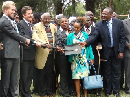 Ground breaking ceremony at Uhuru Gardens, Nairobi for the Mau Mau Memorial Monument: KHRC was at the  forefront of the reparations case for Kenya's Freedom Fighters.